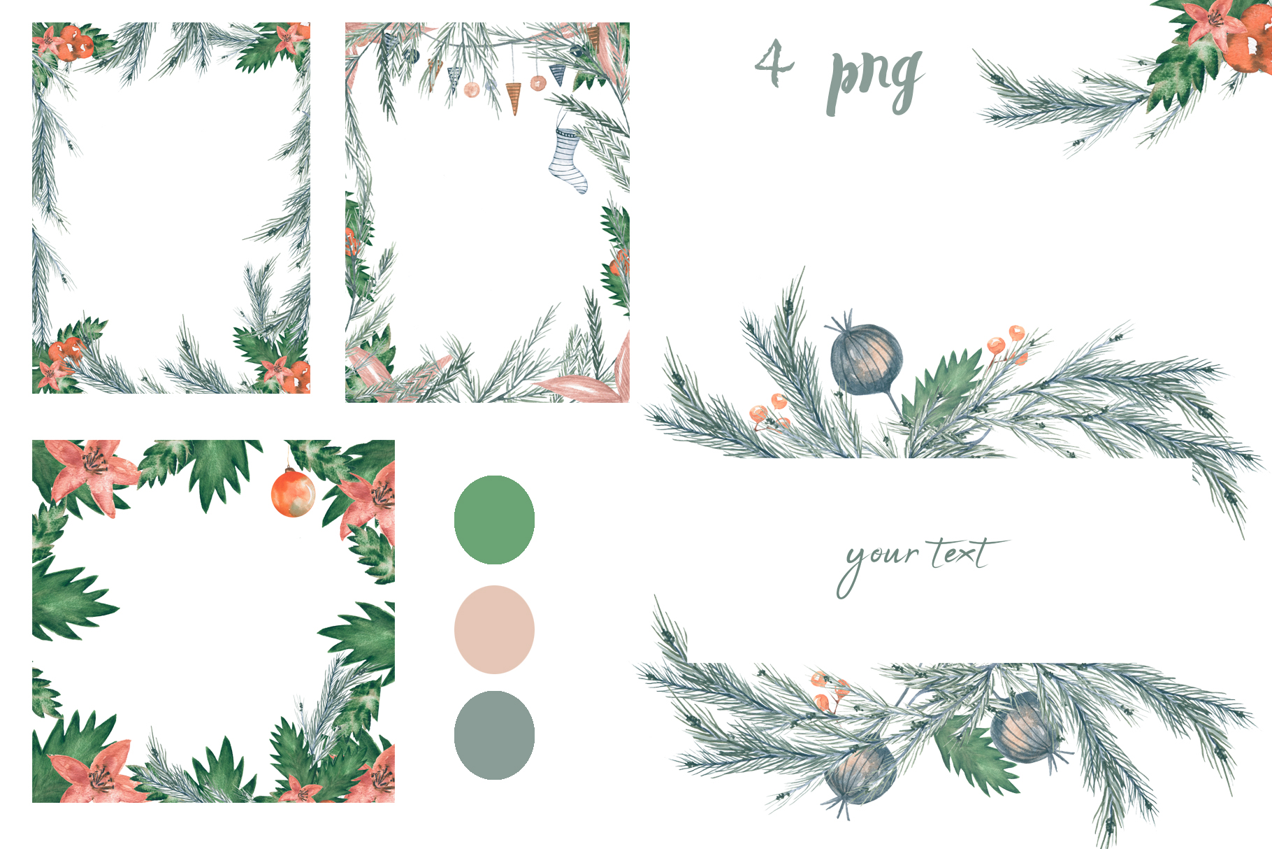Watercolor Christmas example image 6