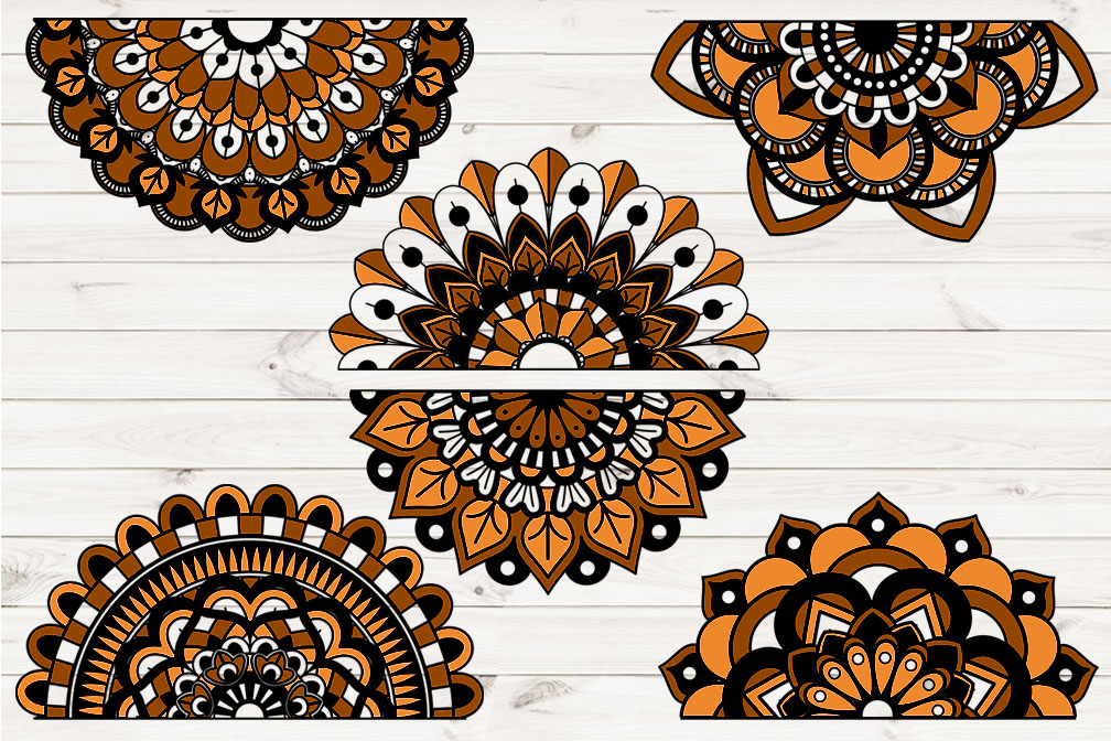 Orange and Black Lace Banners Clipart example image 3