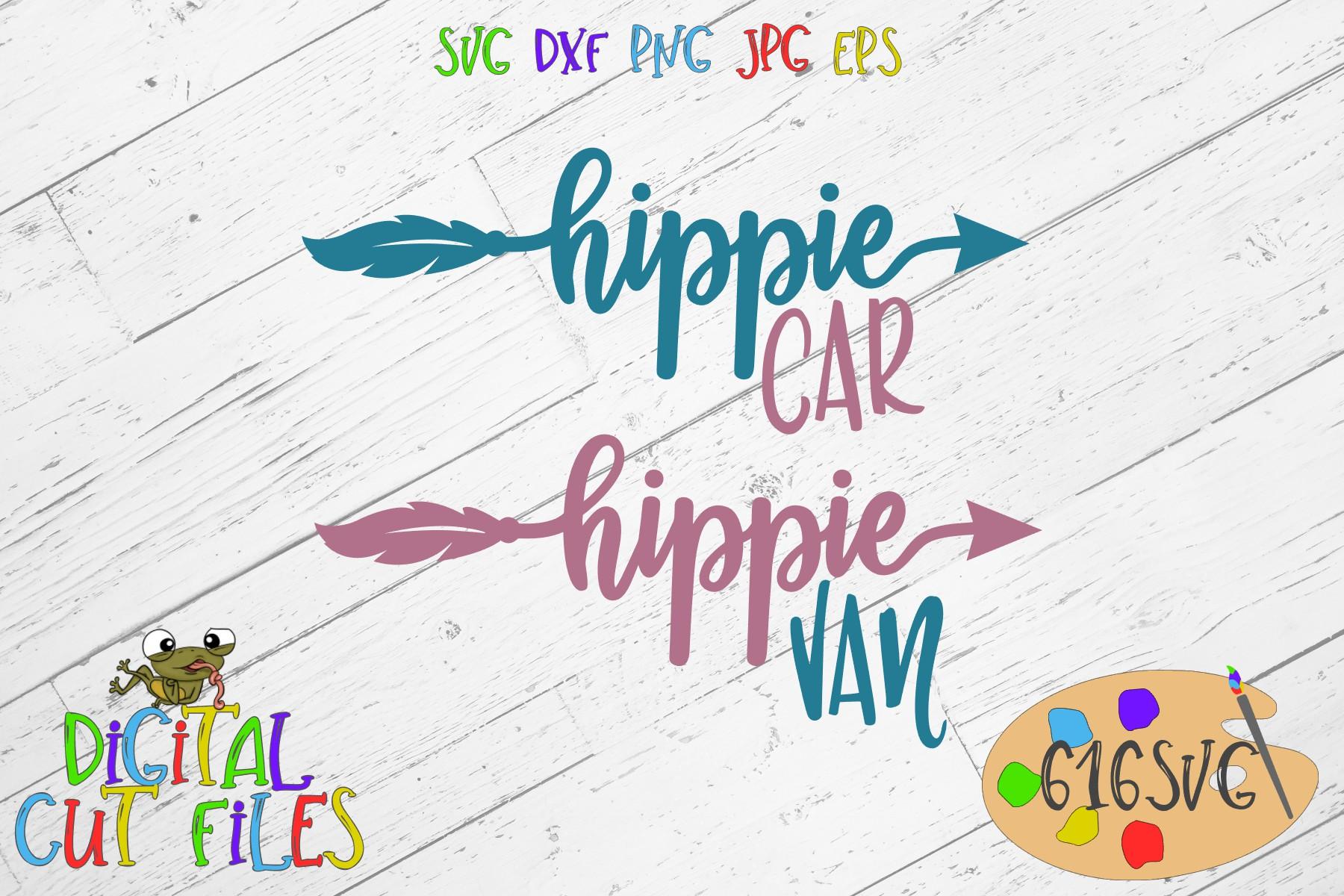 Hippie Car Hippie Van SVG example image 2