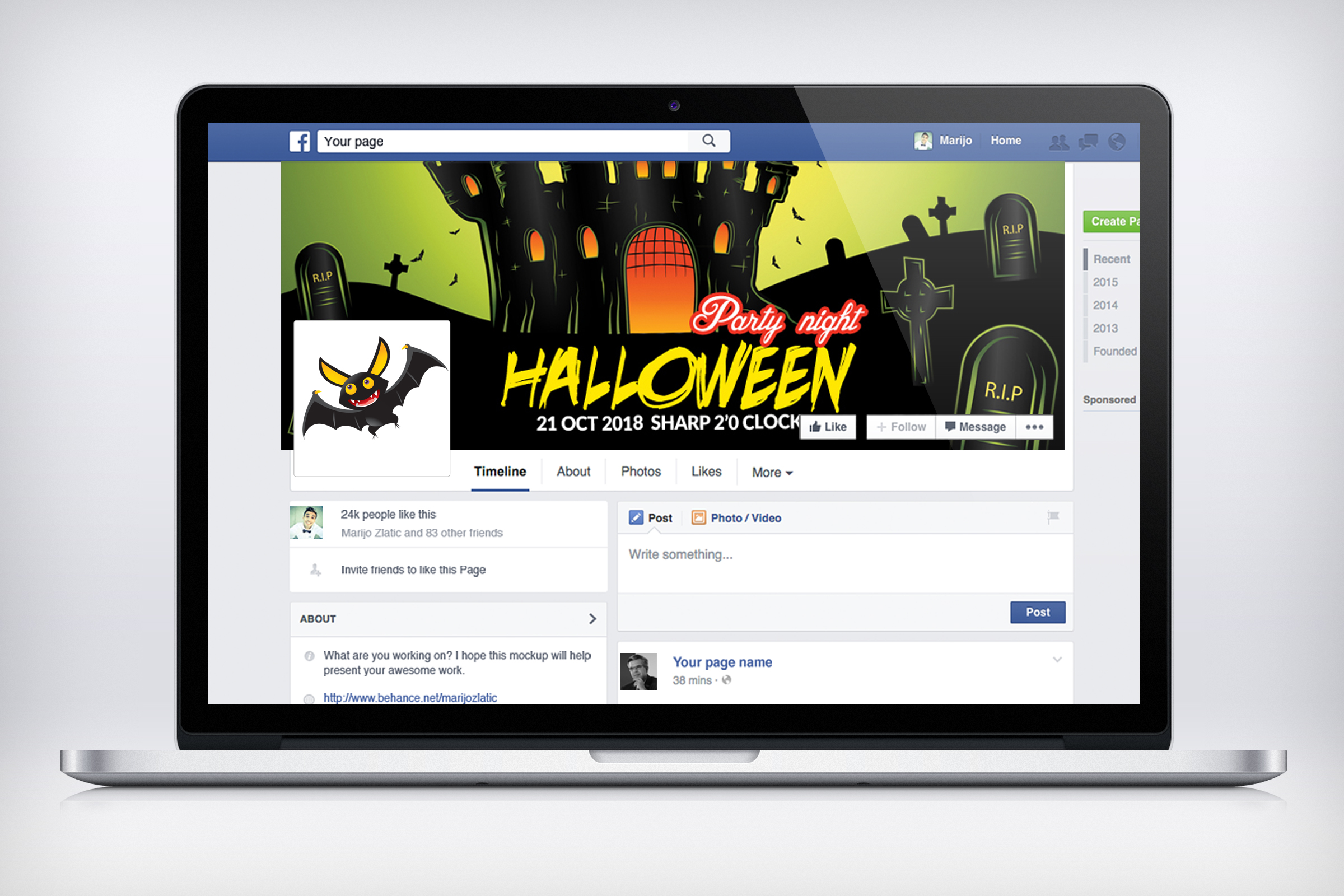 Halloween Night Facebook Timeline Cover example image 3