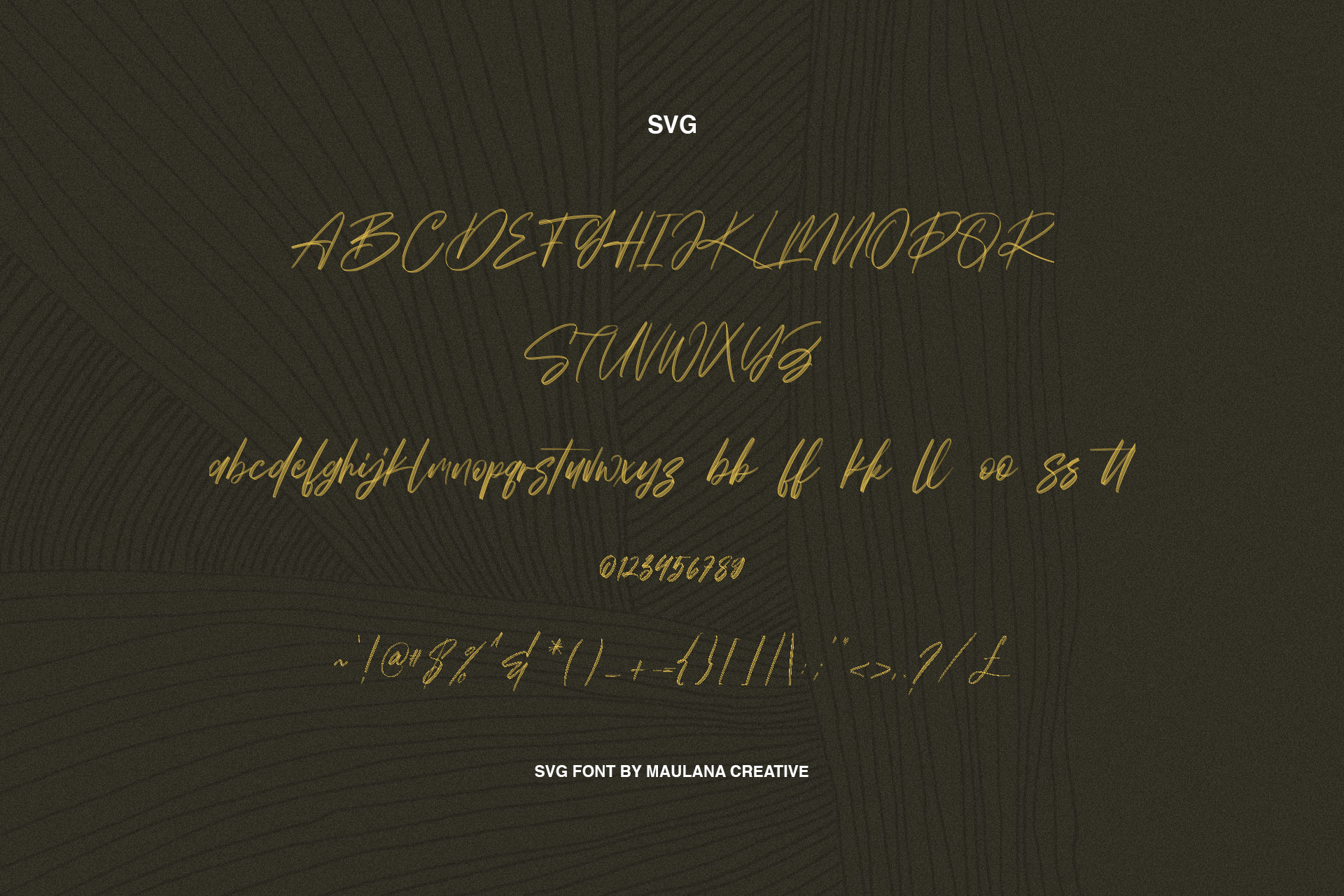 Worthness SVG Brush Font Free Sans example image 8