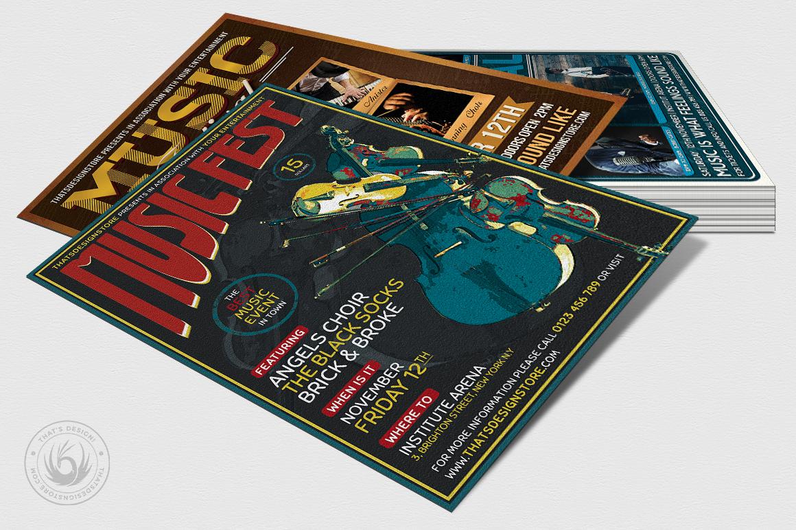Concert Live Flyer Bundle V5 example image 4