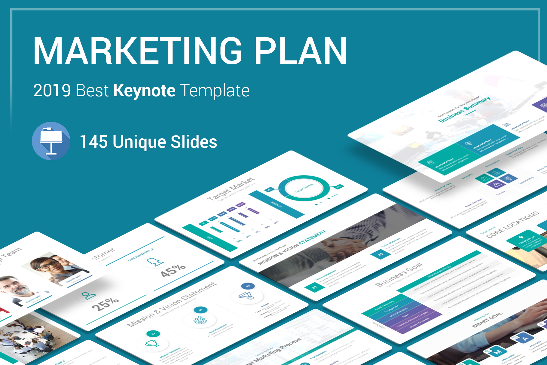 Business Plan Keynote Template example image 1