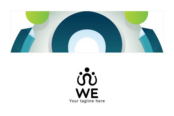 WE - Community / Group 3d Stock Logo Design Template example image 3