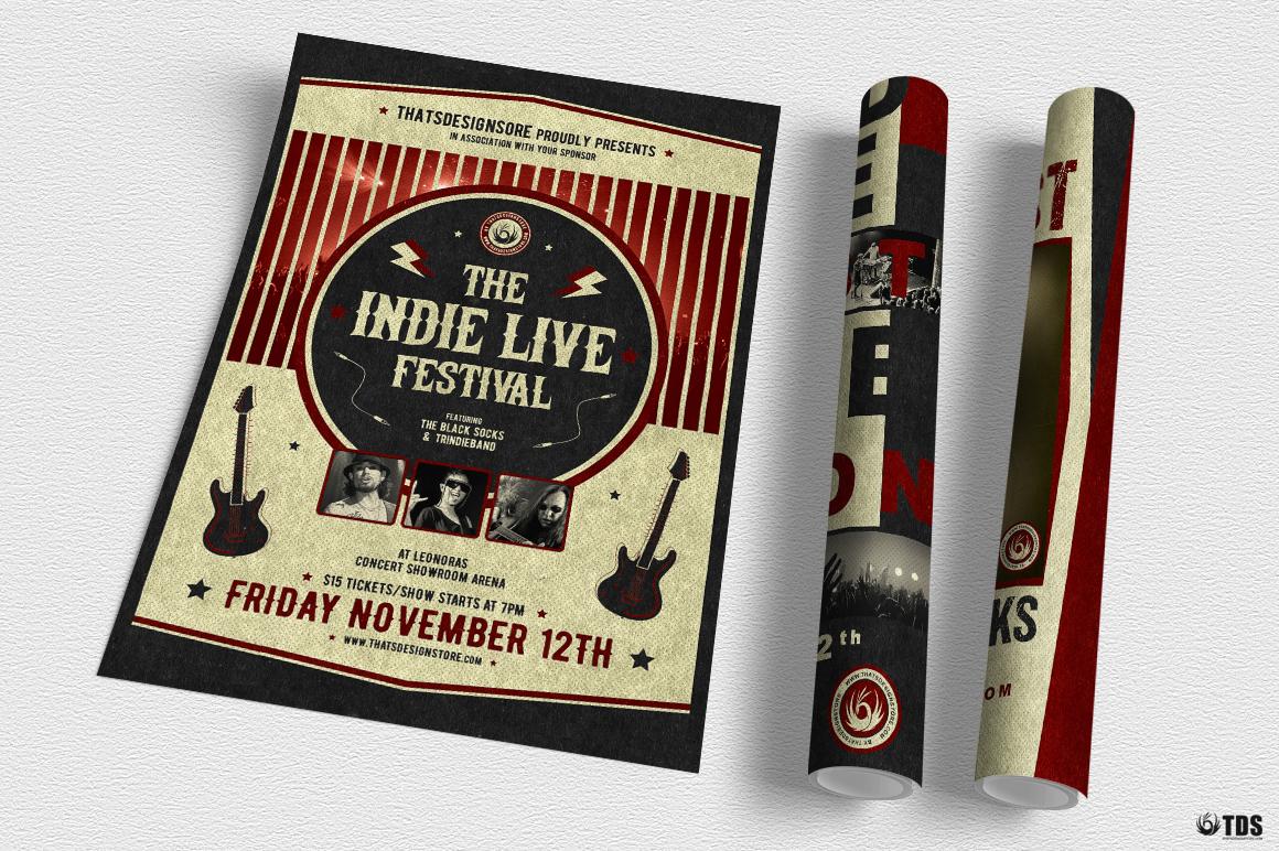 Indie Live Festival Flyer Bundle example image 5