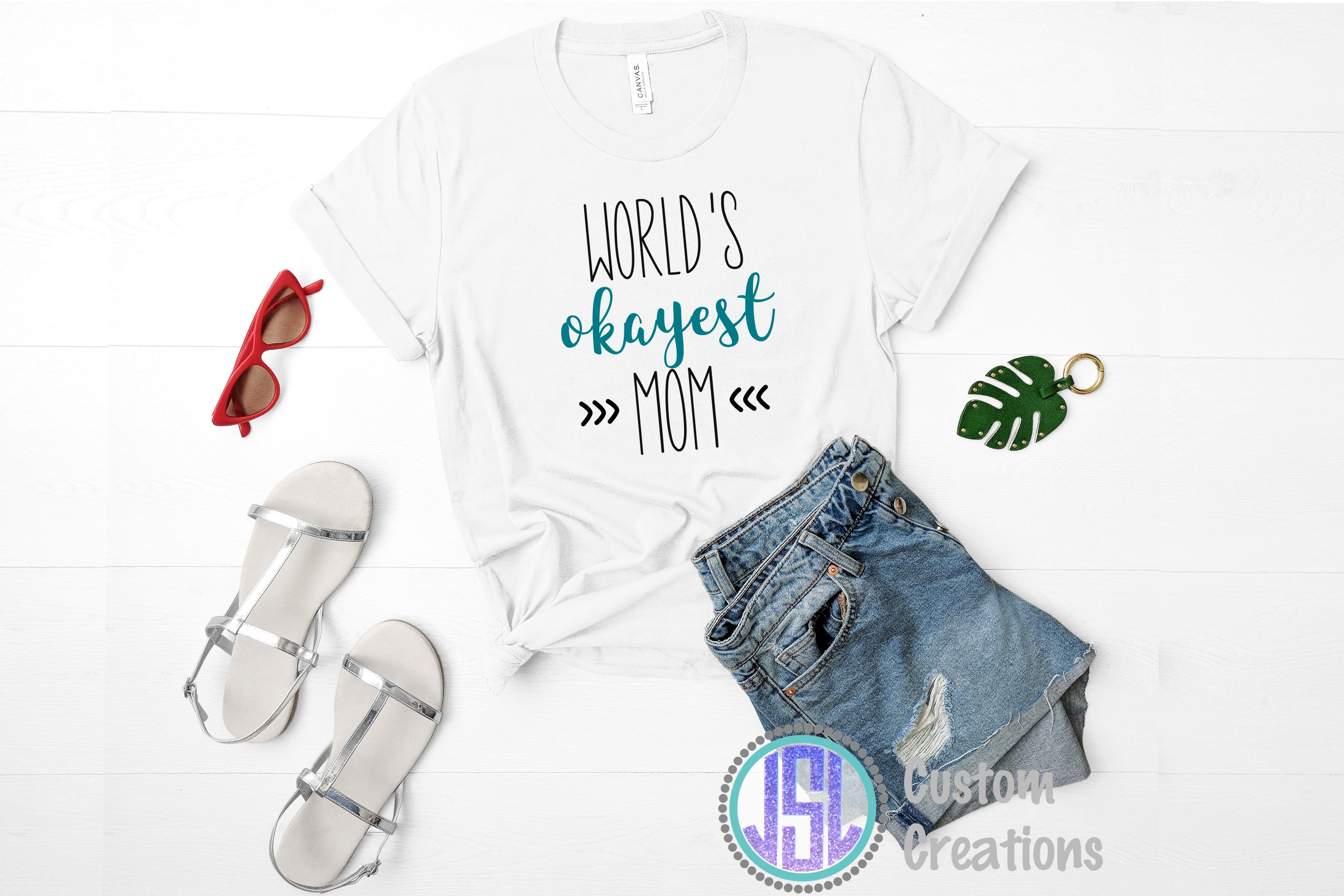 World's Okayest Mom| SVG DXF EPS PNG Digital Cut File example image 2