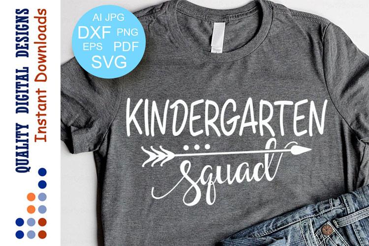 Kindergarten squad svg example image 1