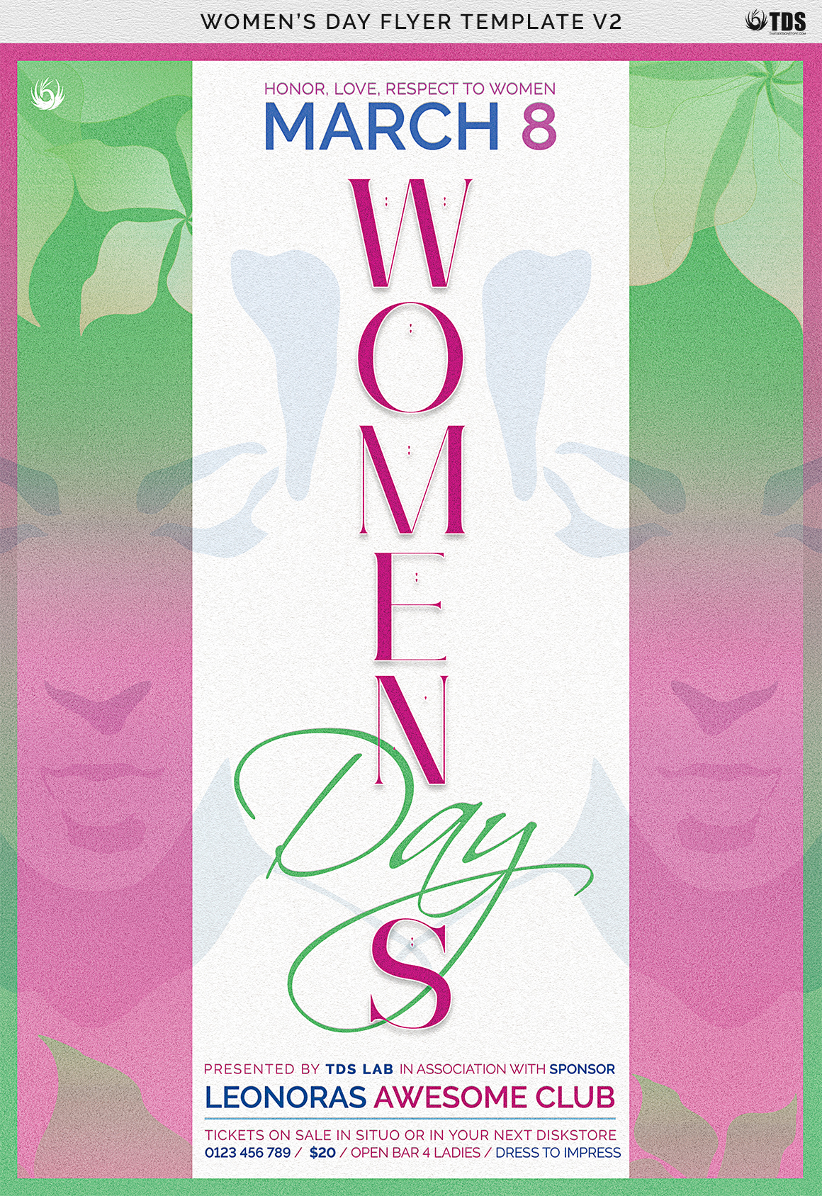 Womens Day Flyer Template V2 example image 7
