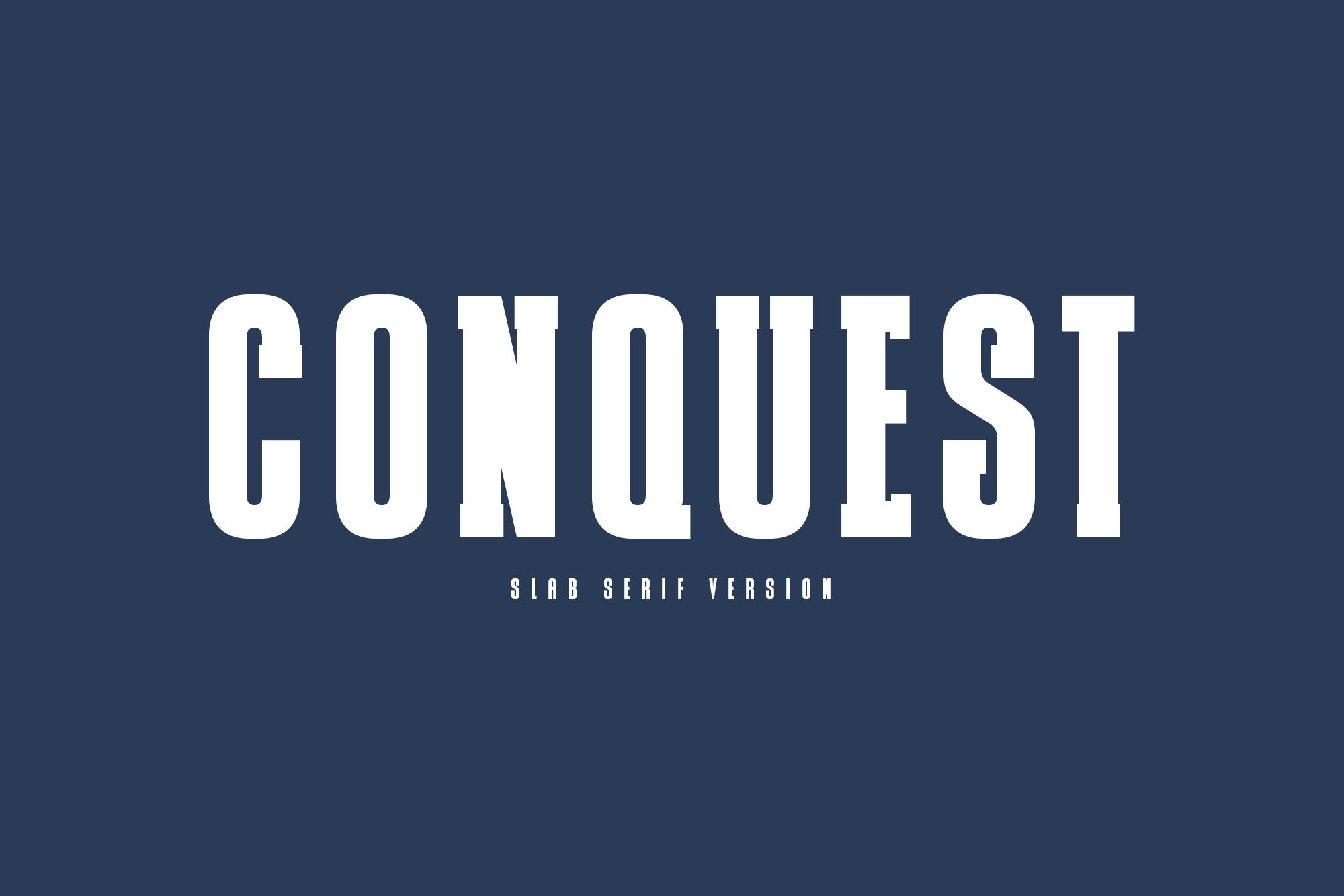 CONQUEST Sans & Slab Serif example image 2