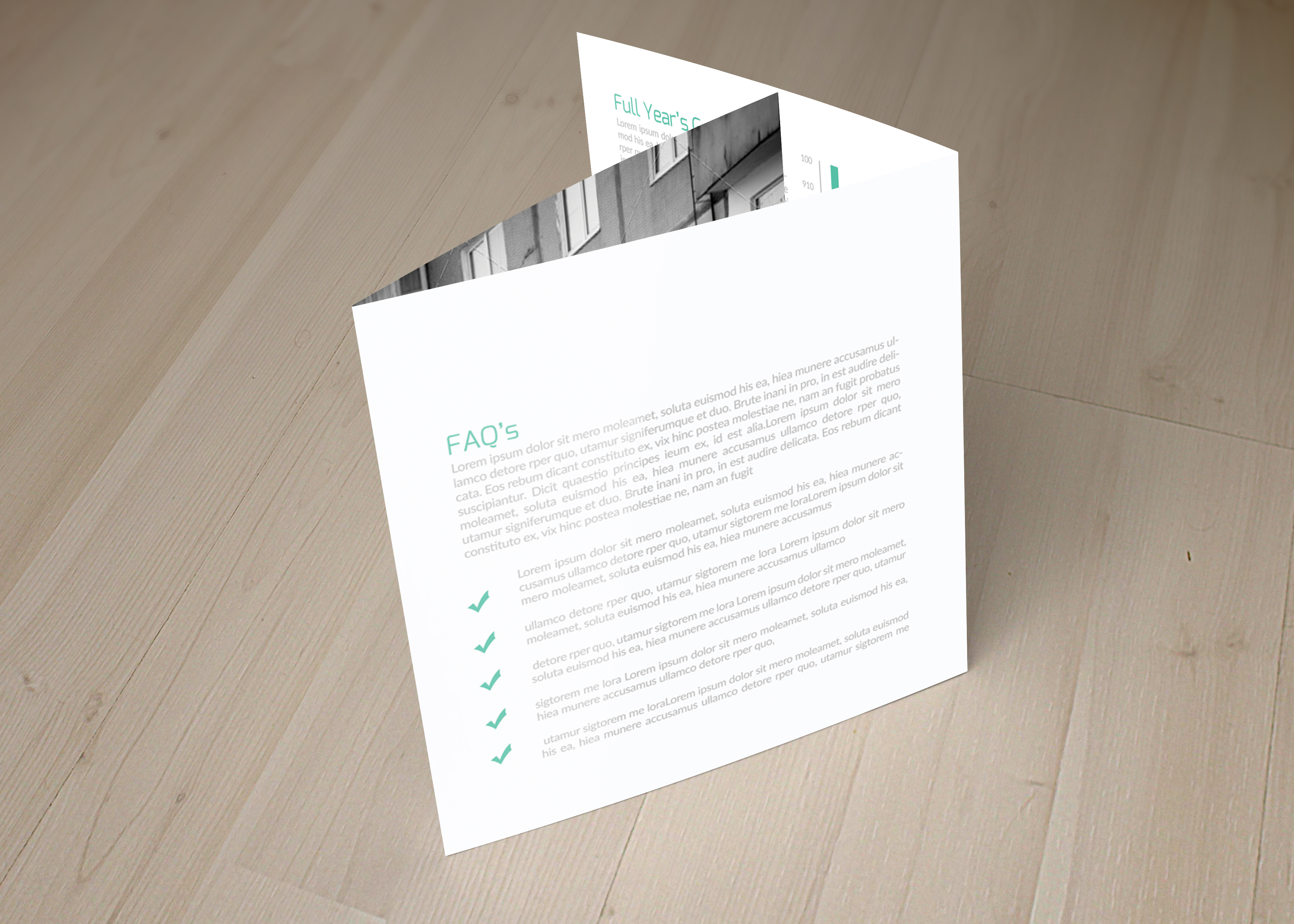 Business Solution Square Trifolde Brochure example image 2