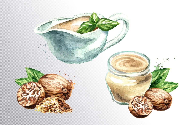 Bechamel sauce Watercolor example image 4