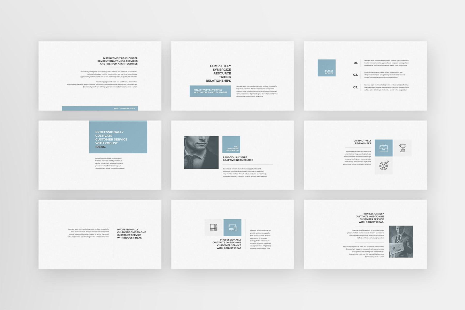 Naga - PowerPoint Template example image 6