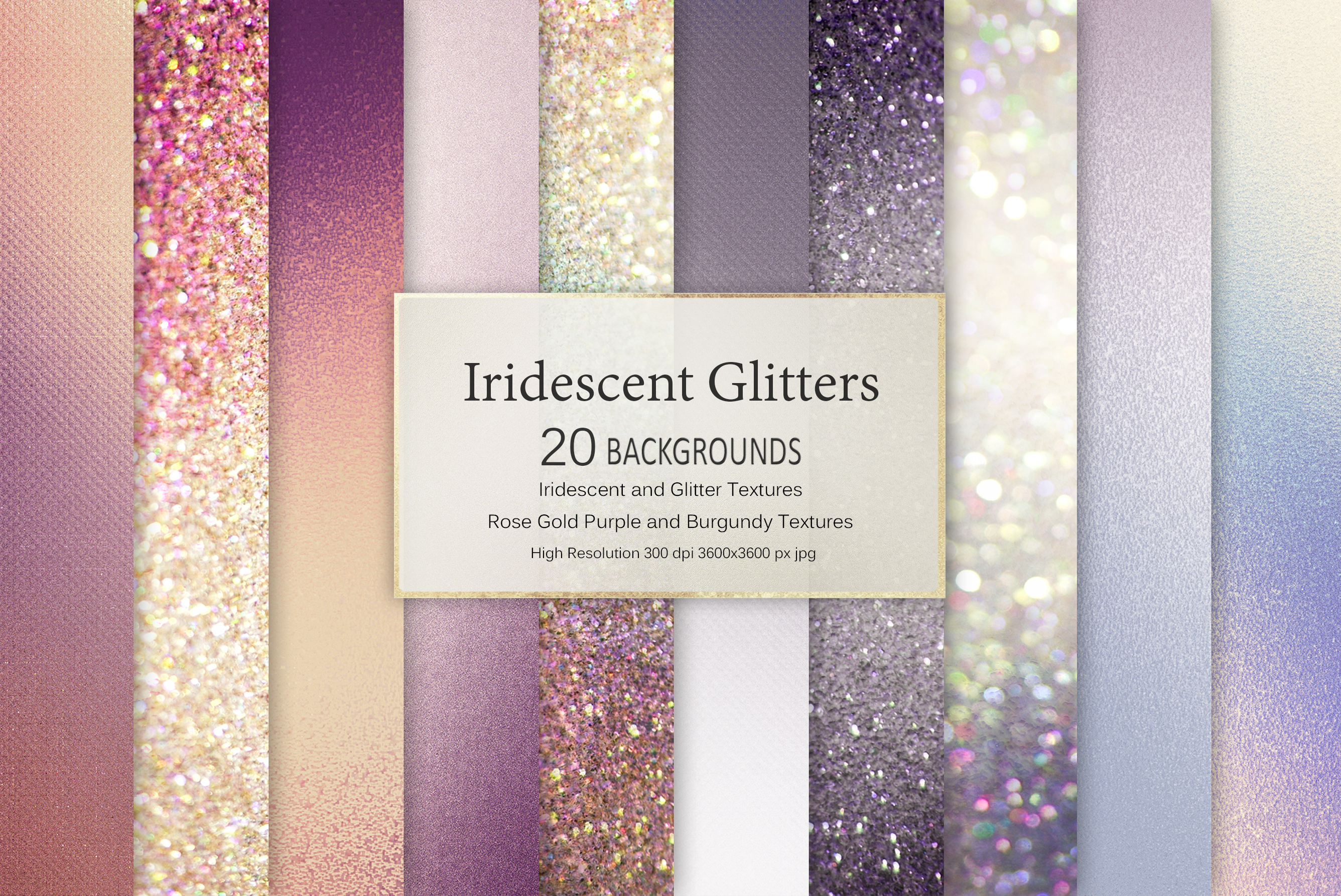 Iridescent and Glitter Foil 180 Textures BUNDLE example image 2