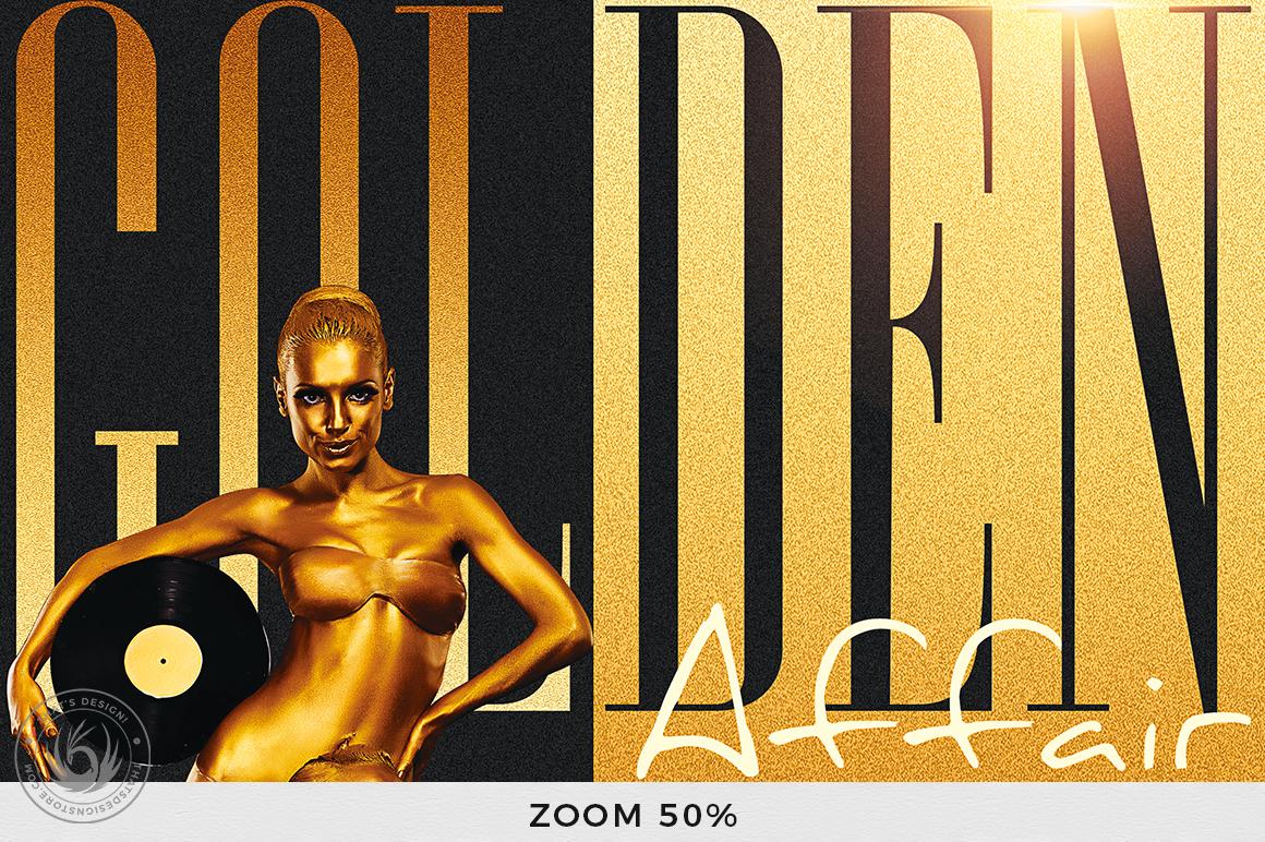 Golden Affair Flyer Template example image 7