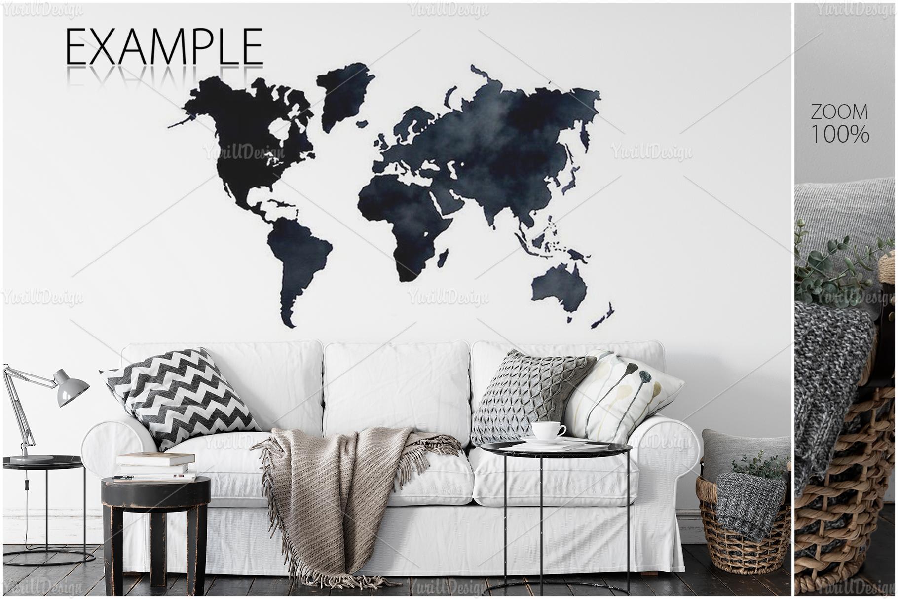 Scandinavian Interior Frames & Walls Mockup Bundle - 3 example image 12