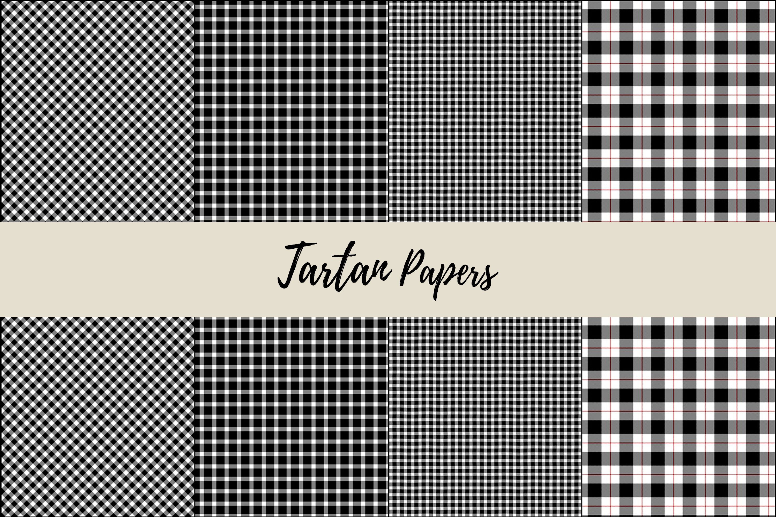 22 Black & Red Tartan Background Papers example image 8