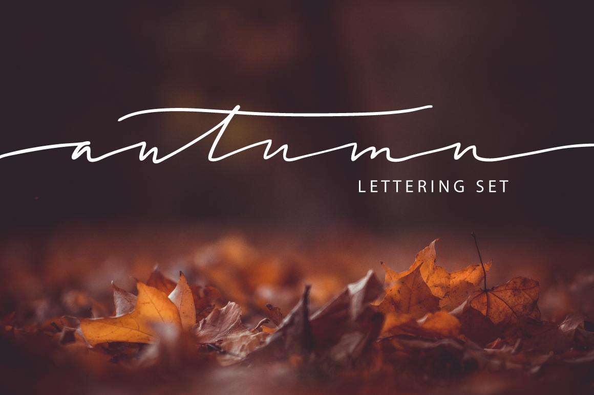 Lettering Pack about Autumn example image 1