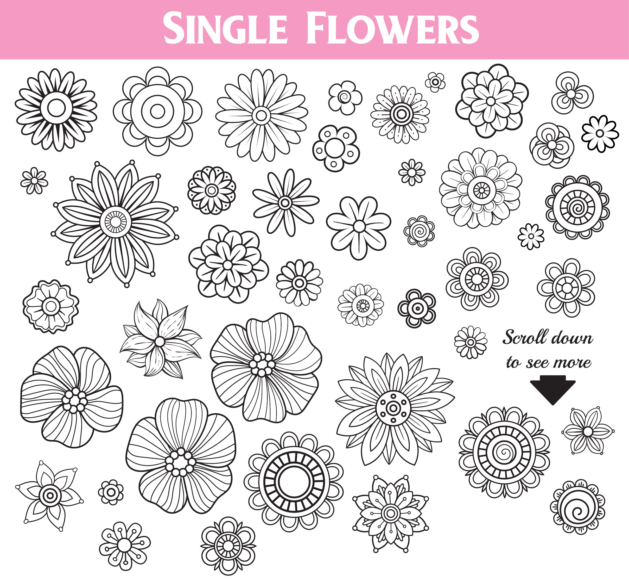 Floral Doodles Collection example image 3