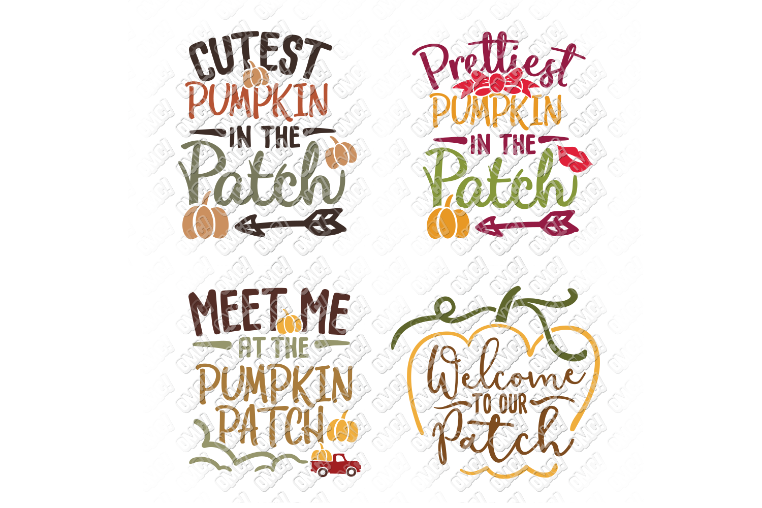 Pumpkin Patch SVG Thanksgiving in SVG, DXF, PNG, EPS, JPG example image 2