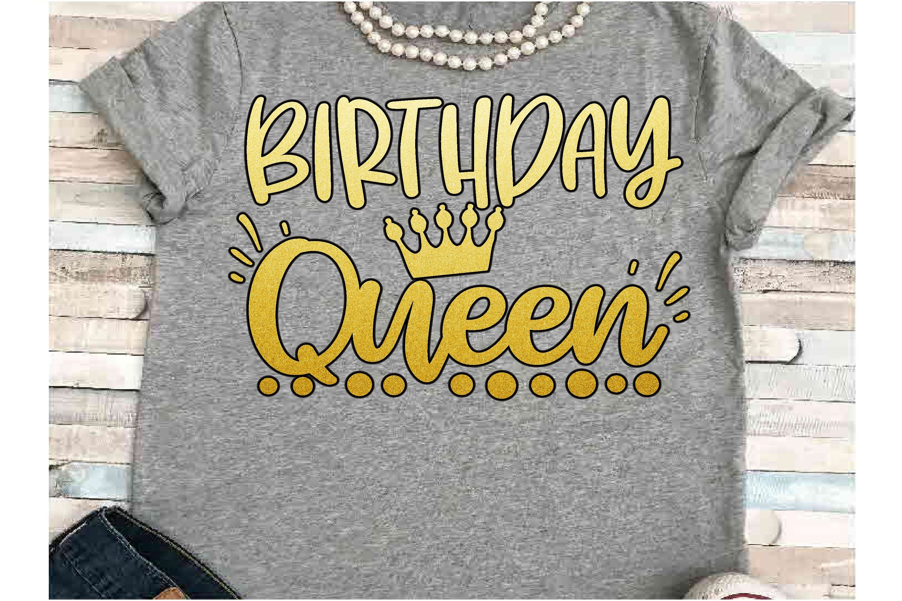 Birthday SVG DXF JPEG Silhouette Cameo Cricut Queen Crown example image 1