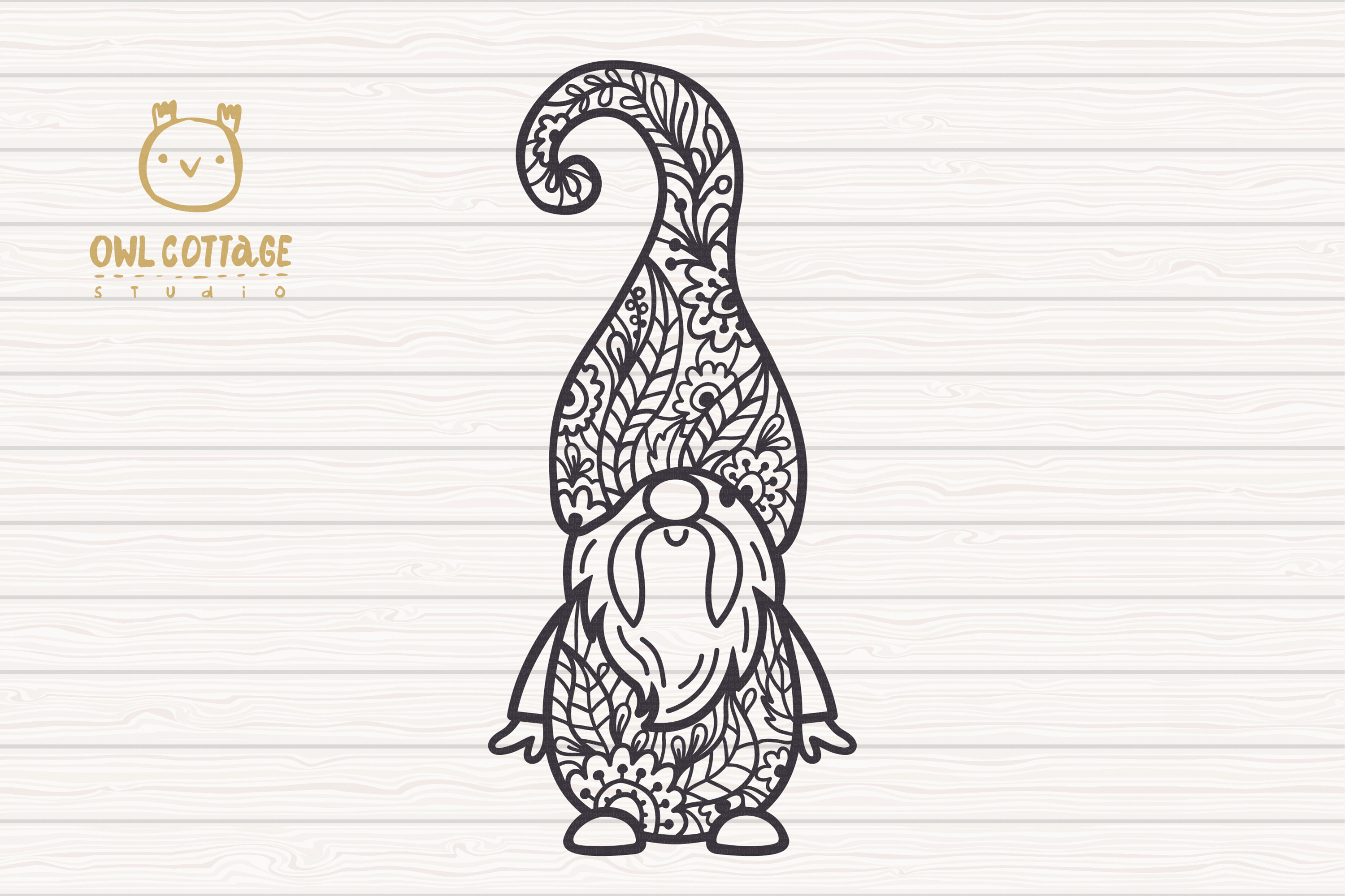 Scandinavian Floral Gnomes SVG, Gnome Clipart, Tomte example image 2