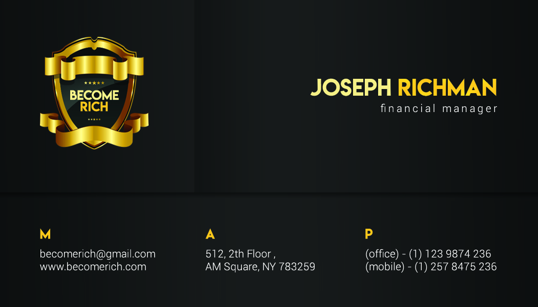 Luxury Business Card example image 3