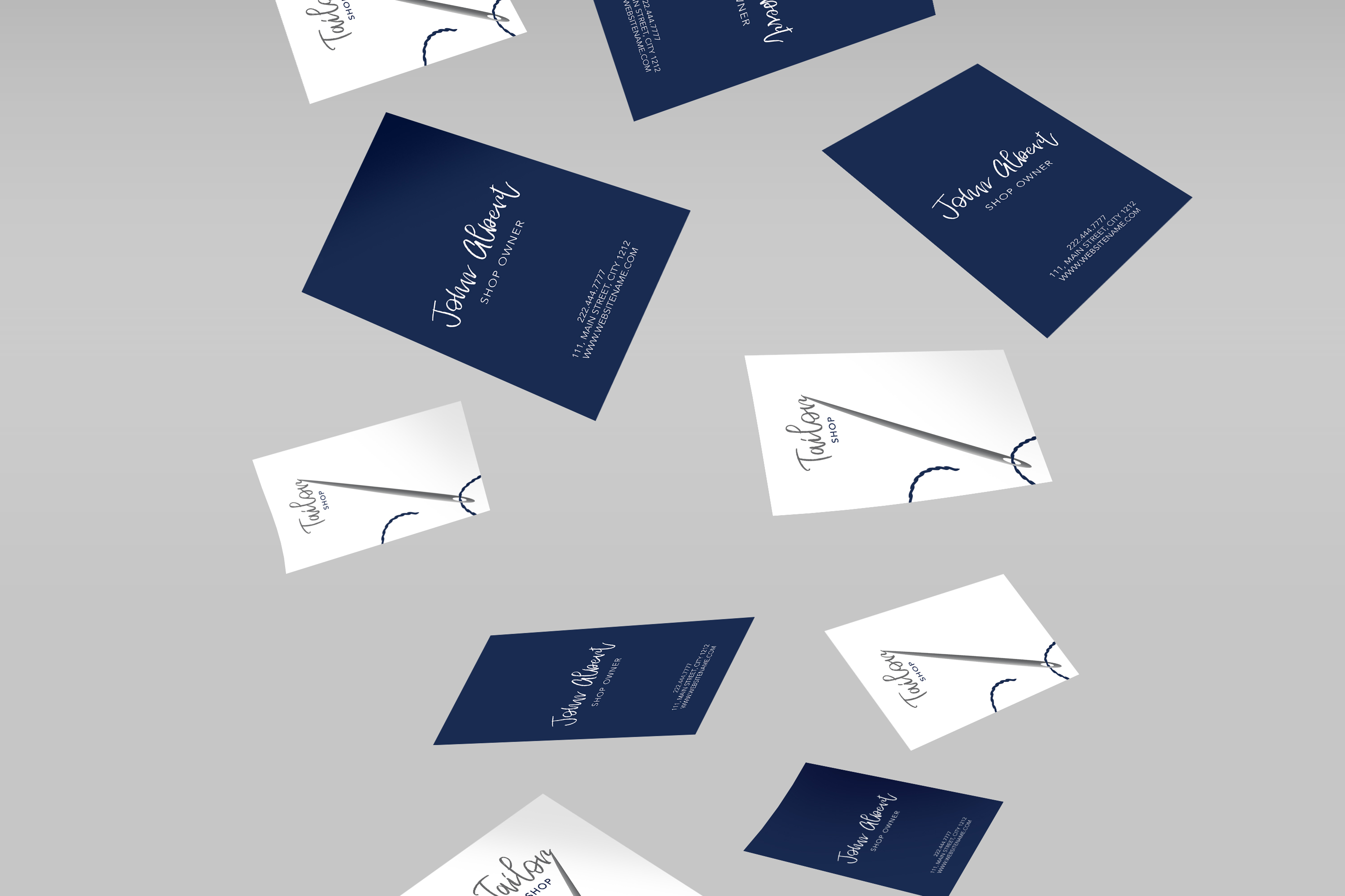 Tailor shop creative business card example image 2