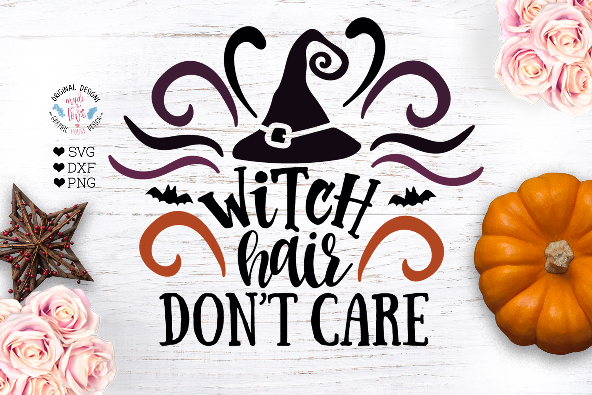 Witch Hair Don't Care - Halloween Cut File example image 1