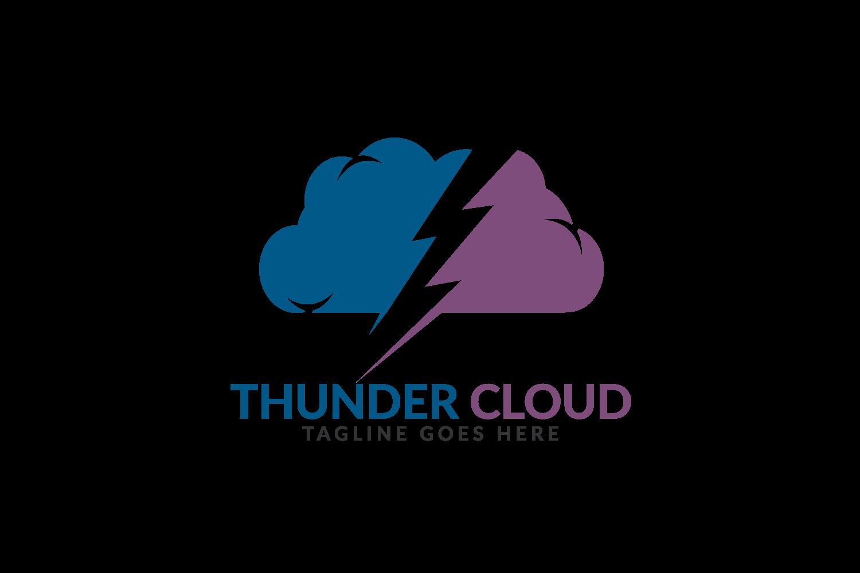 Thunder Cloud logo design. example image 2