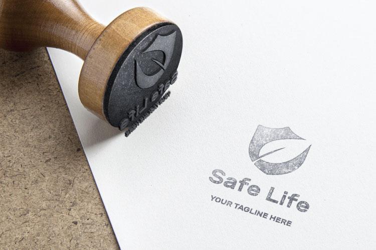 Shield Leaf Logo Design example image 4