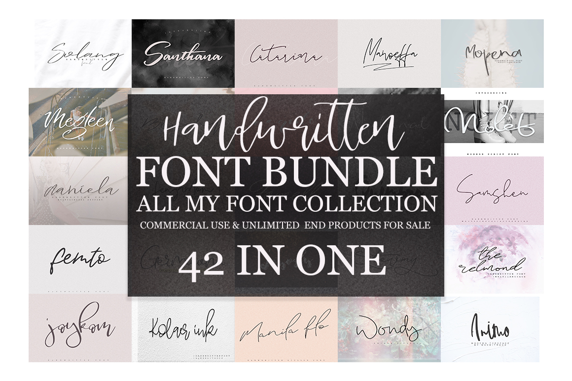FONT BUNDLE | FREE UPDATE example image 1