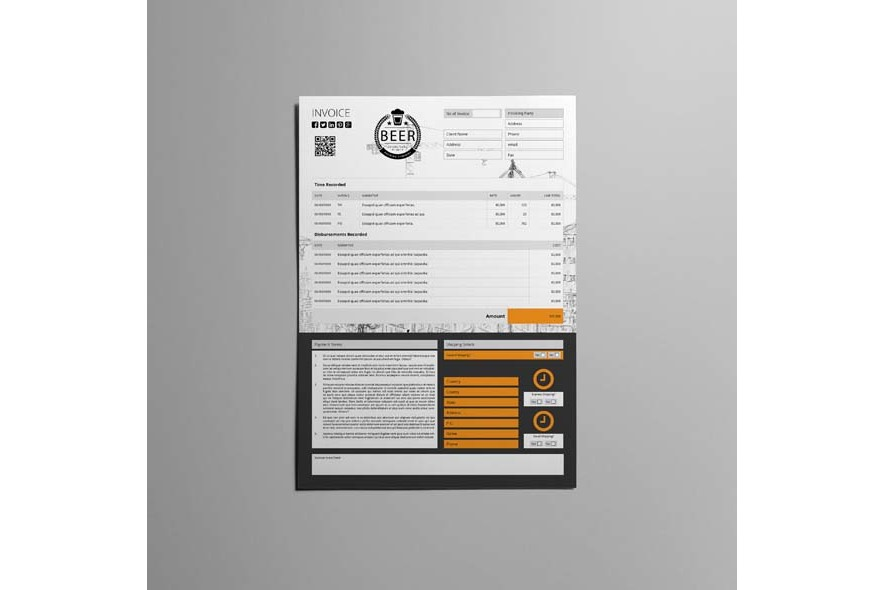 A4 Invoice Template example image 5