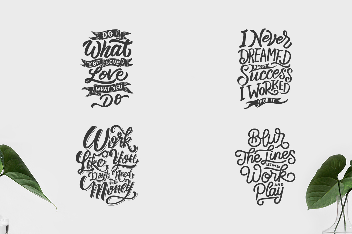 SVG Bundle - Hand Lettering Motivational Quotes Vol 2 example image 4