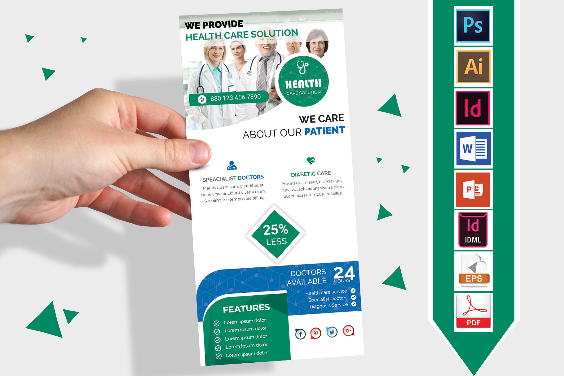 Rack Card | Doctor DL Flyer Vol-01 example image 2