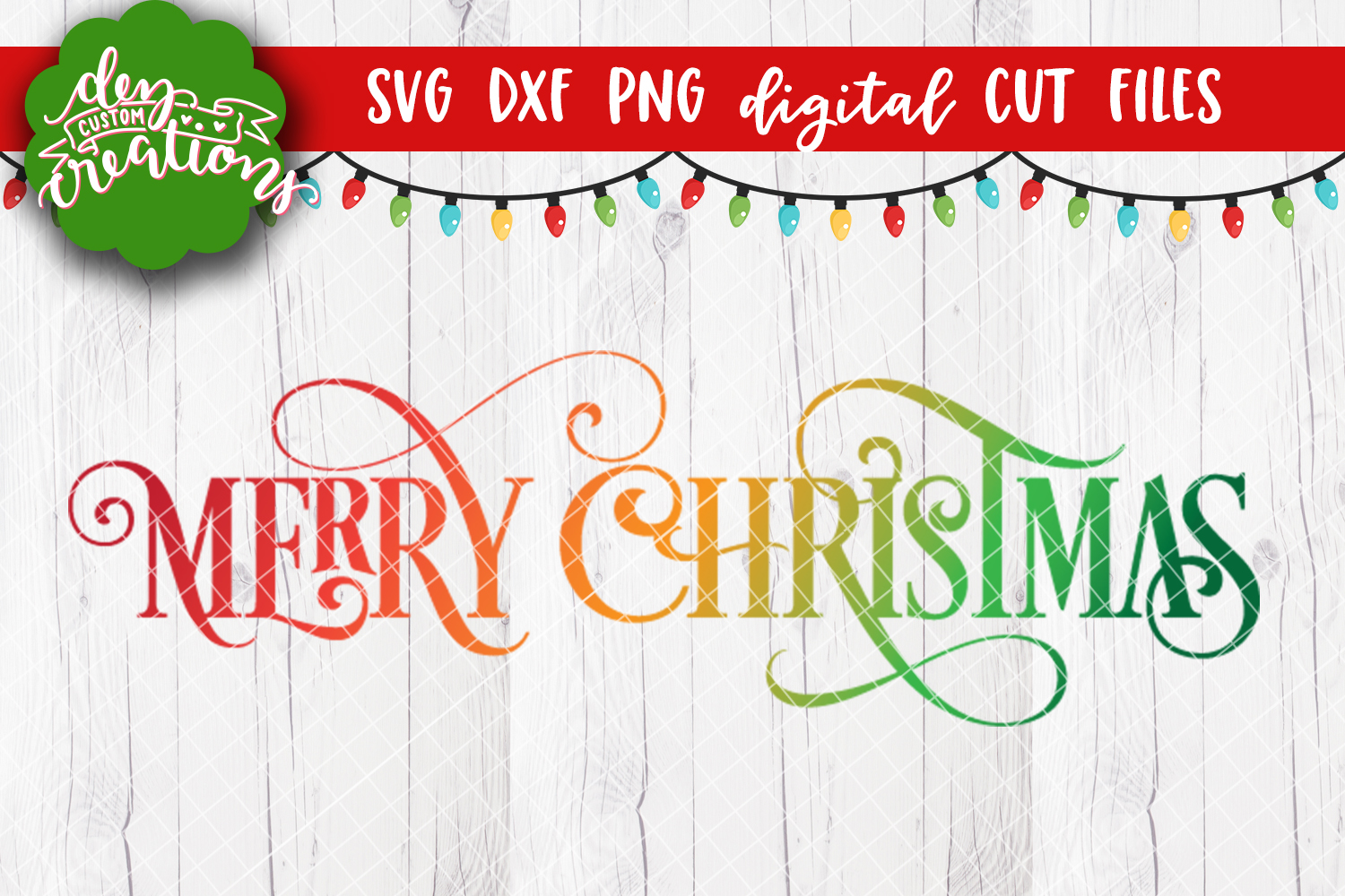 Merry Christmas - SVG DXF PNG Digital Cut File example image 2