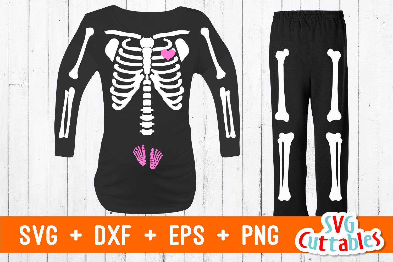 Pregnant Skeleton t-shirt design | Cut File example image 1