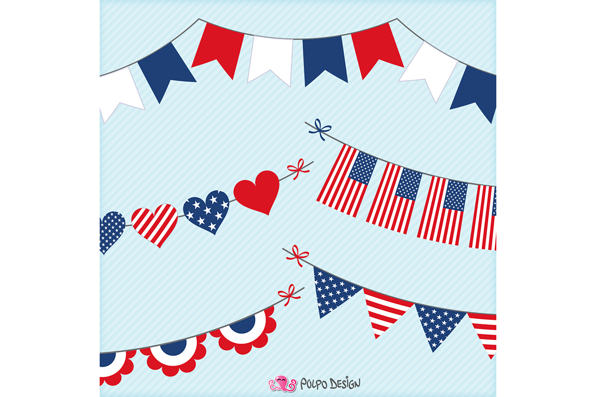 4th of July bunting banners example image 2