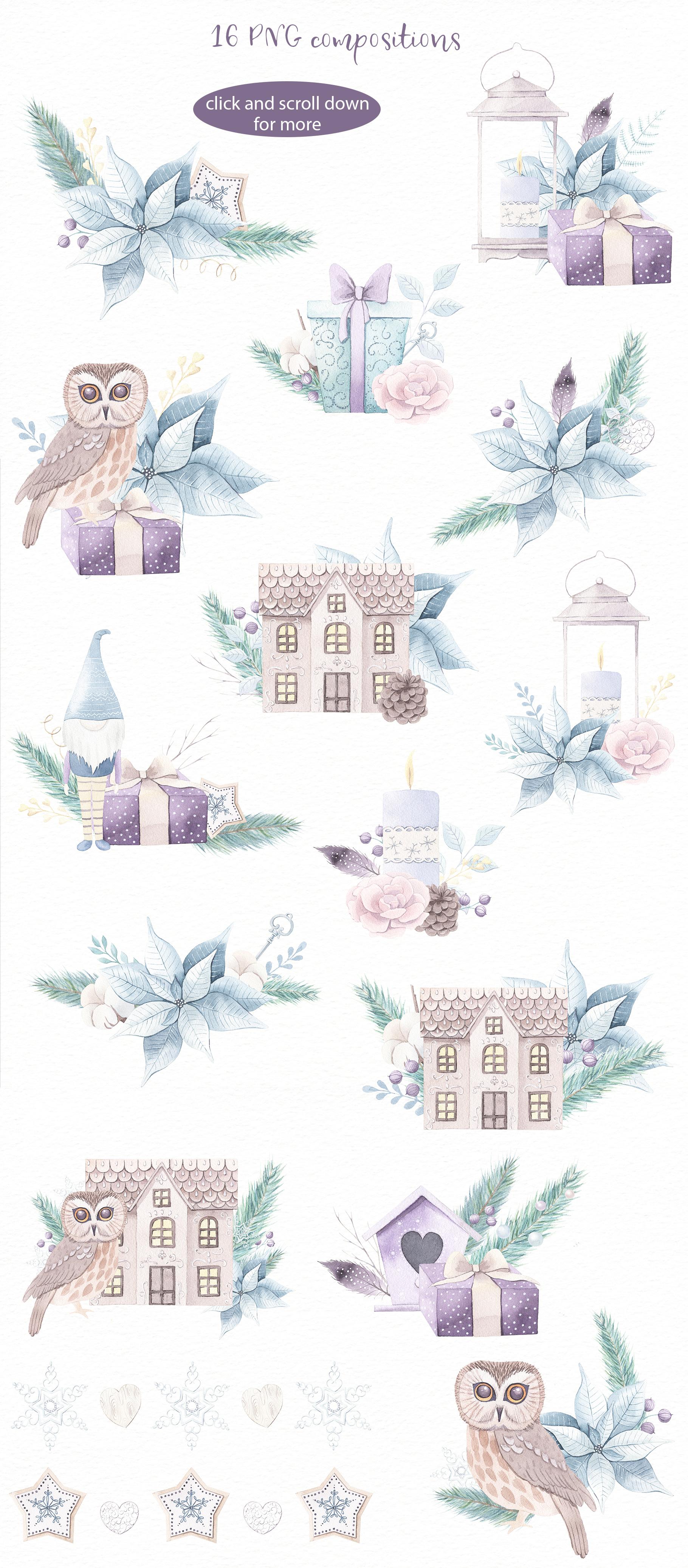 Christmas Dreams vol.2 - Watercolor Set example image 4