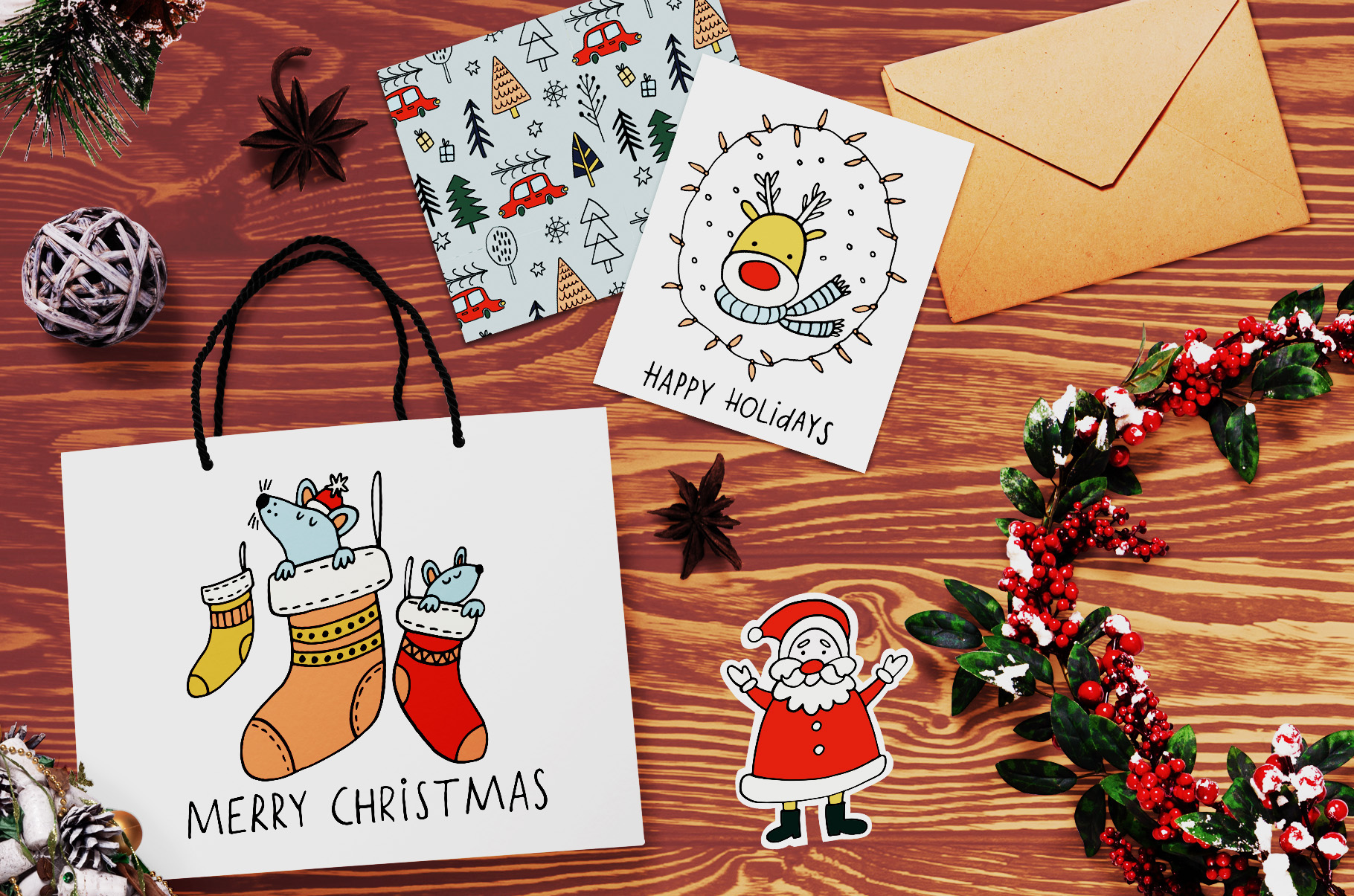 Cozy Christmas Clipart example image 5