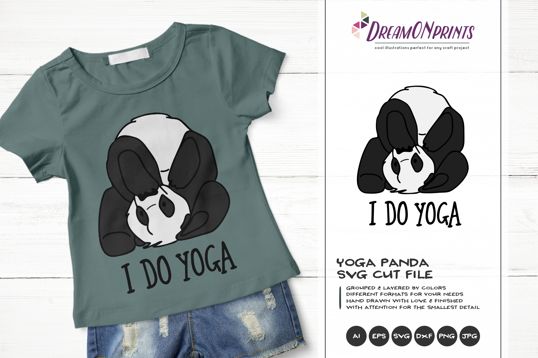 I Do Yoga | Panda Bear SVG | Funny Panda Illustration example image 1