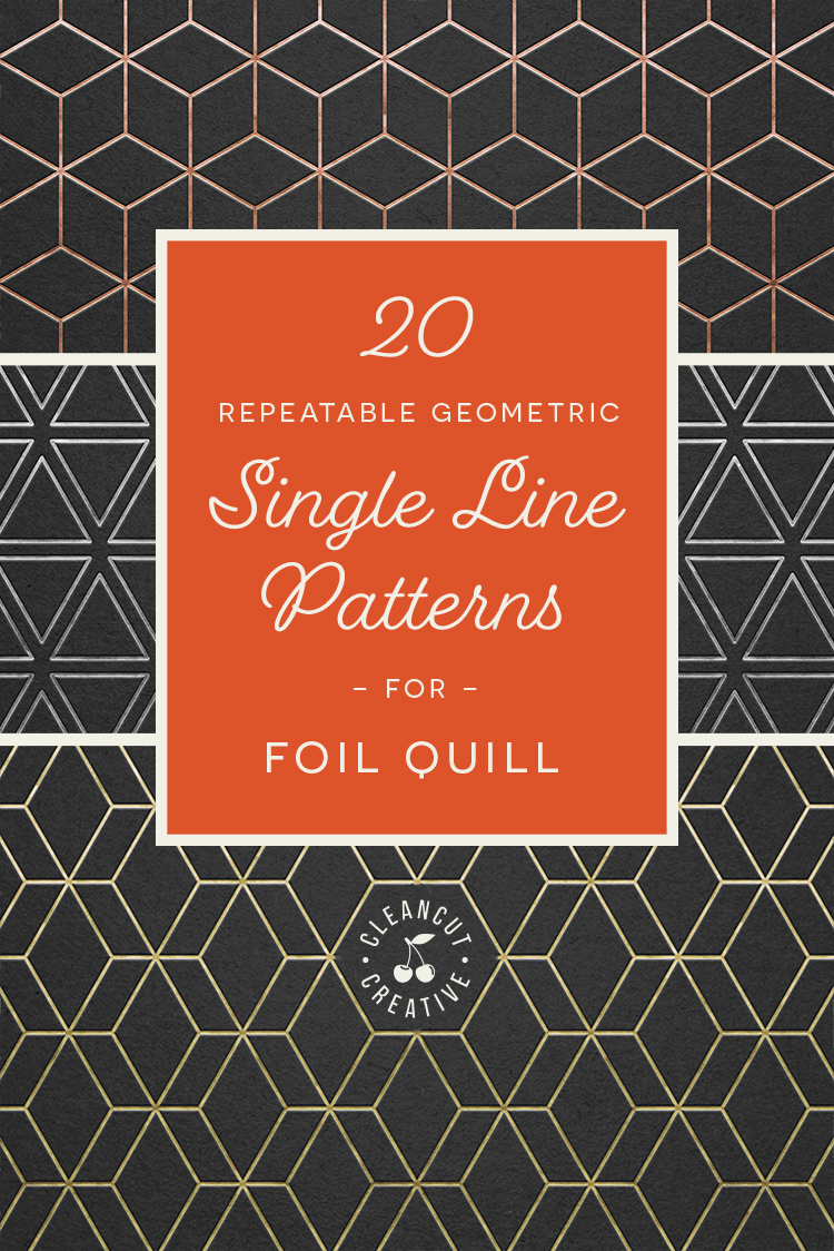 Foil Quill designs SVG   20 Geometric Single Line Patterns example image 6