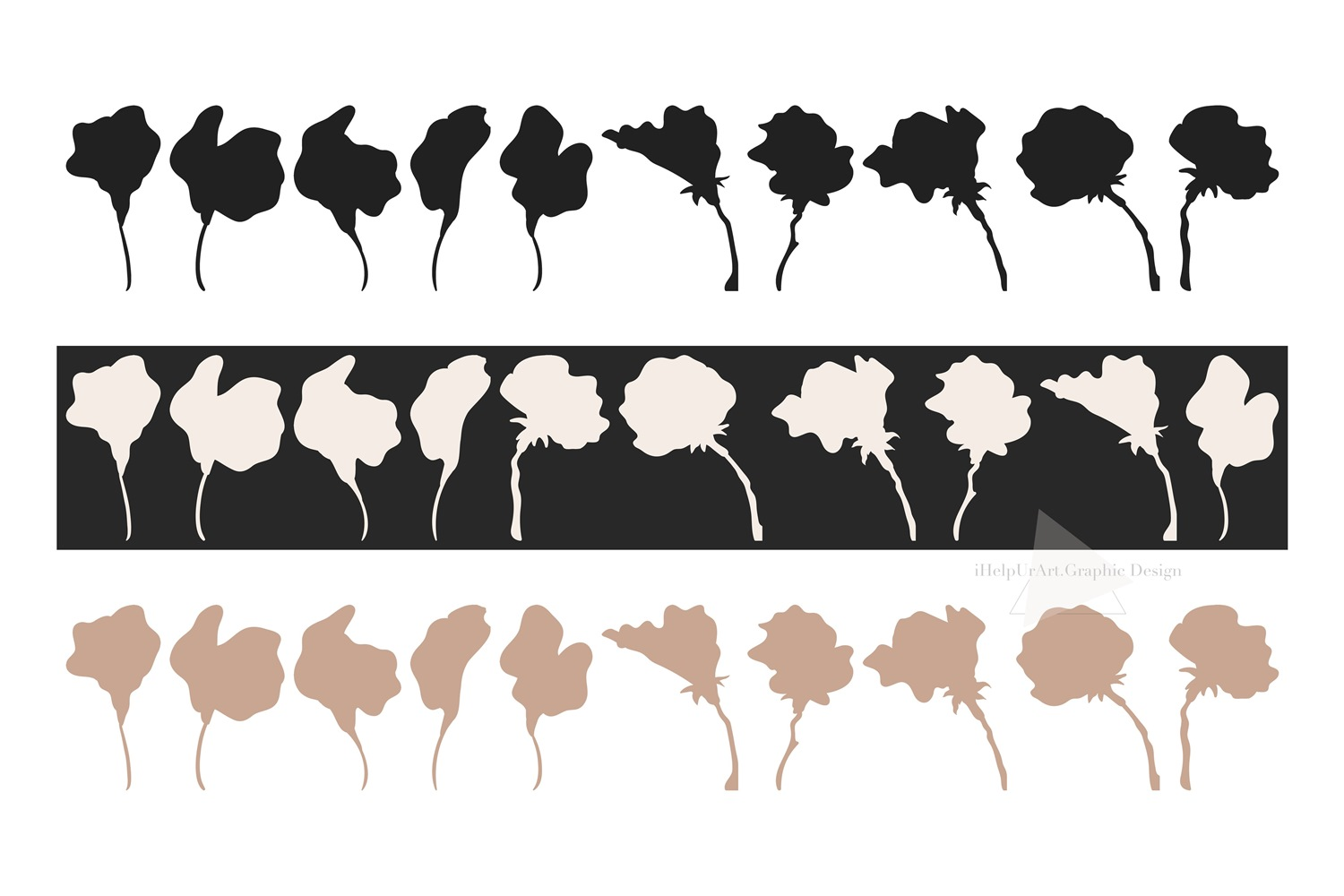Sweet Pea Clipart - Floral Clip Art - Outline Botanical example image 3