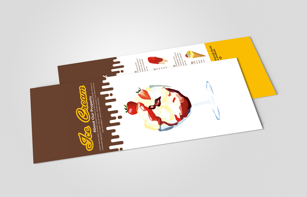 Ice Cream Shop Menu Rack Card example image 2