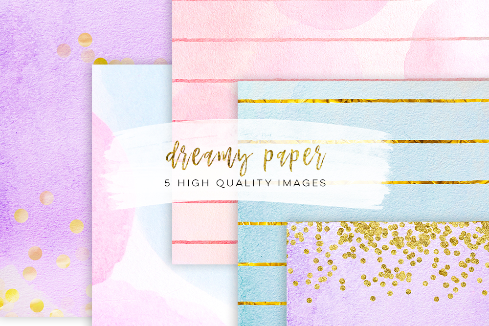 real watercolor paper, High Resolution Digital Paper 300 DPI, dreamy paper blue and lilac paper, indigo color paper gold confetti watercolor example image 3