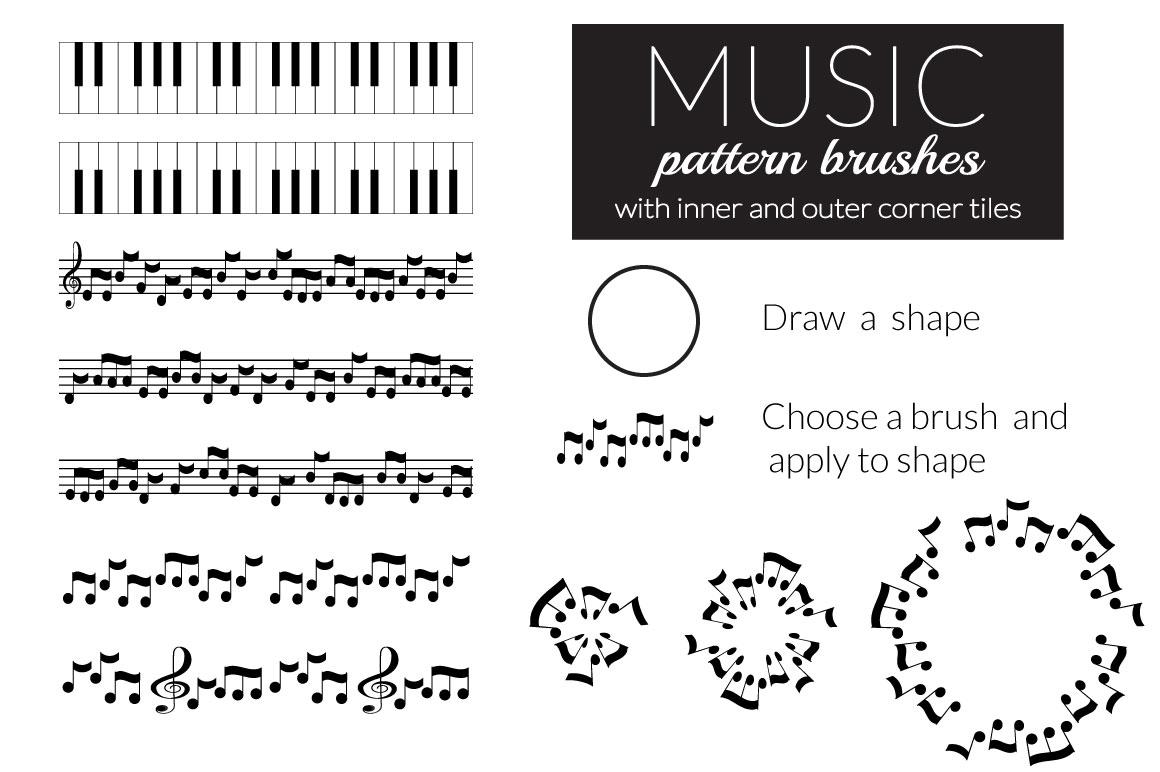 Music brushes for Adobe Illustrator example image 2