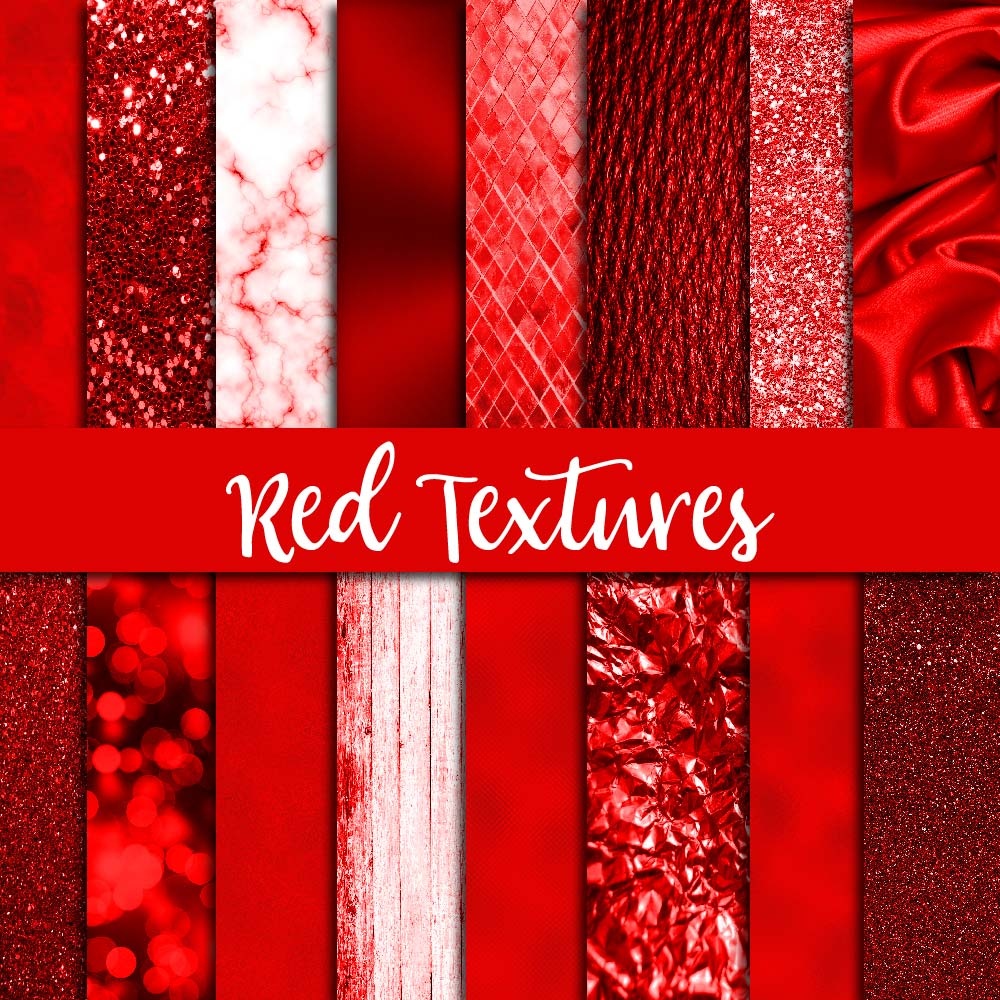 Red Textures Digital Paper example image 1