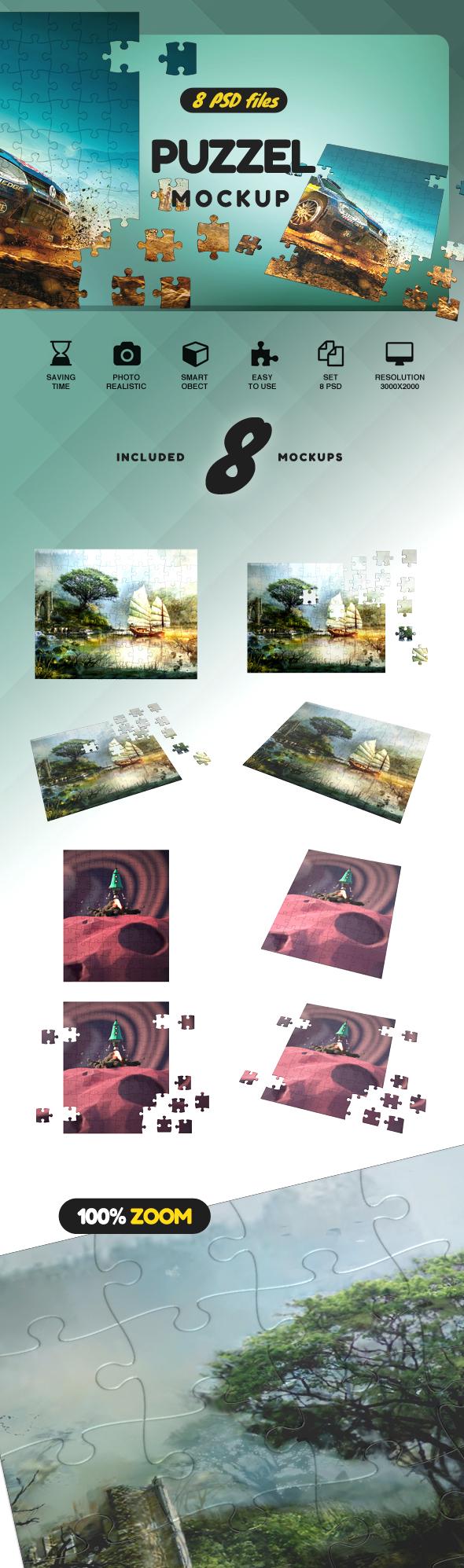 Puzzel Mockup example image 2