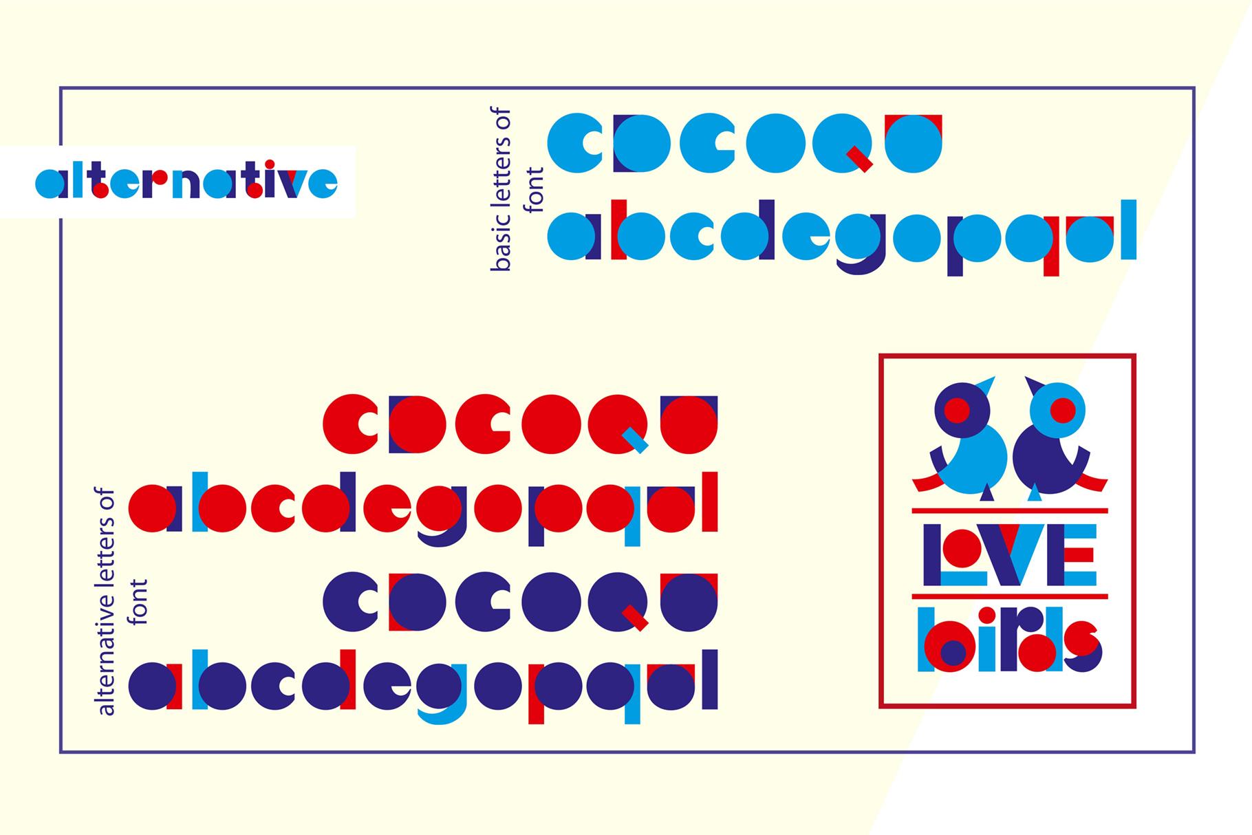 LOVE-BIRDS multicolor font example image 4