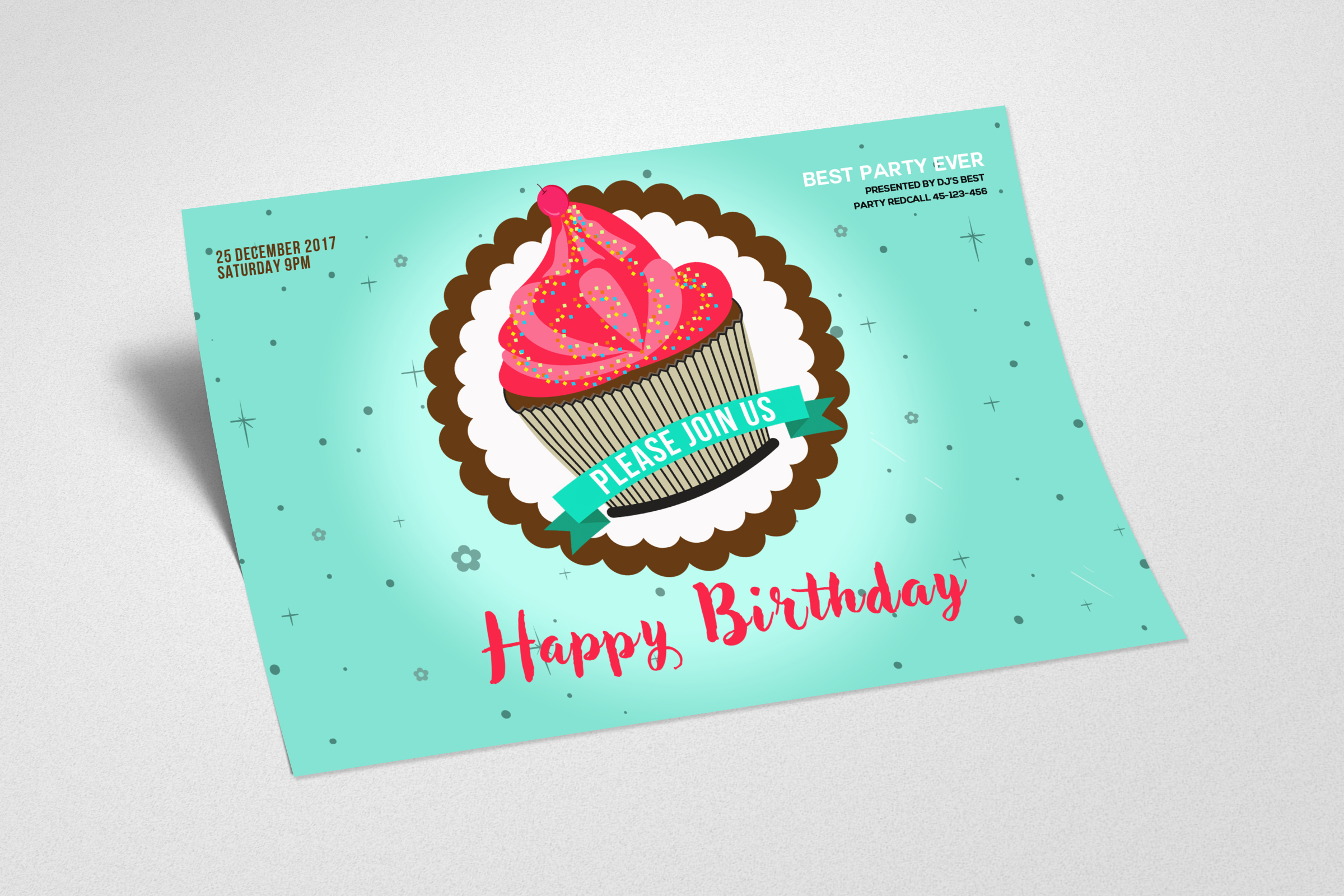 Birthday Greeting Card Template example image 2