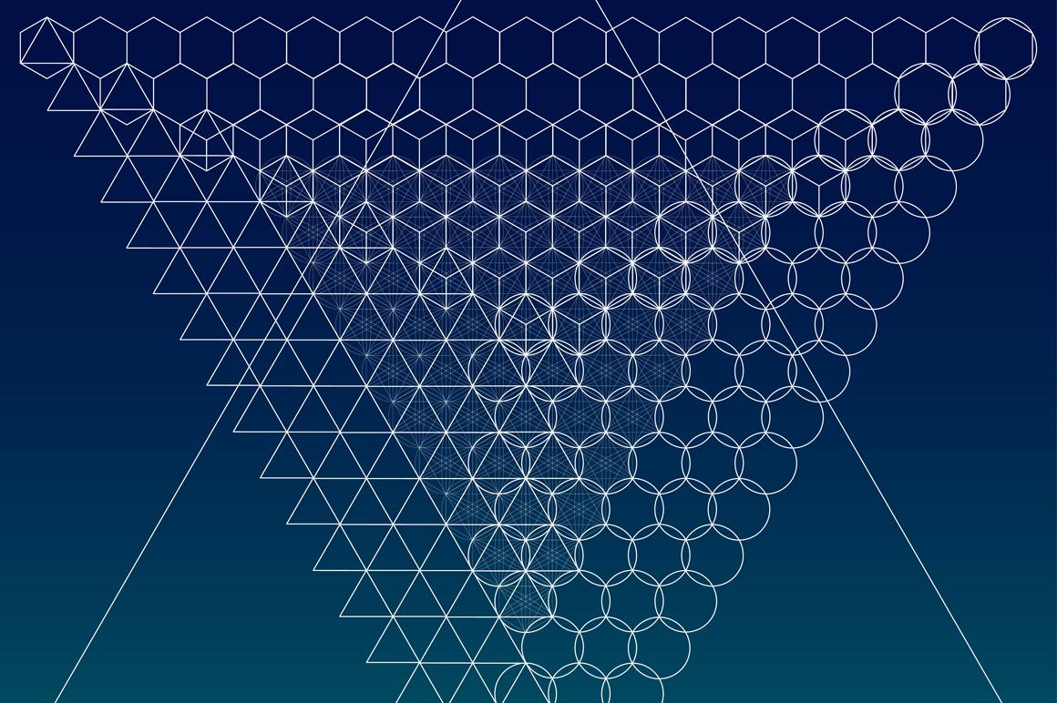 {Sacred Geometry} Symbols + Meshes example image 3